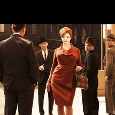 """Christina Hendricks stars as Joan Holloway Harris, the beautiful office manager who eventually rises through the ranks to become a partner at Sterling Cooper & Partners, in """"Mad Men. Joan Holloway, Mad Men Fashion, New Fashion Trends, 1960s Fashion, Fashion News, Christina Hendricks, Mad Men Mode, Mad Men Characters, Gq"""