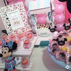 Festa Minnie Confeiteira  #minnie #minnieconfeiteira #scrapchique #festaminnieconfeiteira #decoração #festainfantil #festademenina #festaminnie