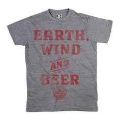 Men's Uinta Earth, Wind & Beer | Uinta Brewing T-Shirt | Vintage Beer TShirts | PalmerCash