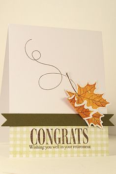 WOW ... I love the simplisity of a few leaves ... this would make a fabulous autumn or Thanksgiving card