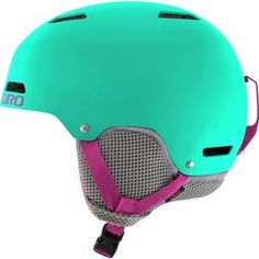 Your kid has a sharp brain and a bright imagination that you want to protect. So, before you turn them loose to roam the mountain, put them in the Giro Kids' Crue Helmet. Its hard shell construction and EPS impact foam is designed to take multiple impacts, while the Auto Loc 2 fit system provides a secure, comfortable fit that stays in place while your kiddo rides. They'll love the skate-inspired design and the integrated vent system that keeps their head from overheating. A removable…