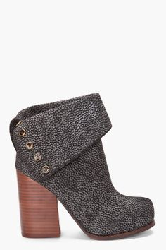 JEFFREY CAMPBELL //  LEATHER BRODY BOOTIES
