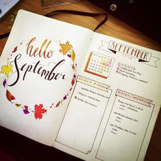 Hello #September. New spread 50% done - now for the #habittracker and #memories…