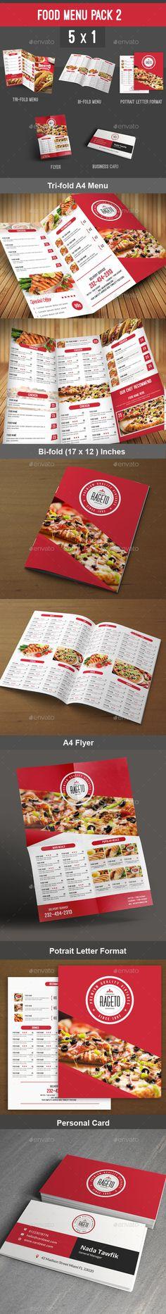 Modern Restaurant Food Menu Flyer Template Modern restaurant - menu flyer template