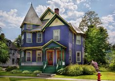 Vermont Victorian Photo | House - Victorian - Waterbury Vt - There Lived An Old Lady Who Lived ...