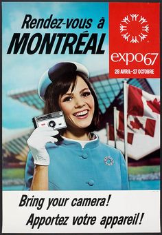 The Expo Hostess (Expo 67).....transportation for Aqua Soleil where our work is also our play
