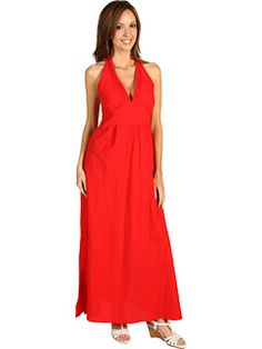 Tommy Bahama - Crinkle Cotton Lawn Halter Dress w/ Smocked Back (Red) - Apparel, $134.00 | www.findbuy.co #TommyBahama