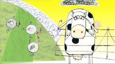 In dit filmpje is de geanimeerde versie te zien van het prentenboek 'De koe die een ei legde'.