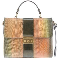 CALVIN KLEIN COLLECTION rainbow shoulder bag ($1,365) ❤ liked on Polyvore featuring bags, handbags, shoulder bags, purses, сумки, leather shoulder bag, purse satchel, handbag satchel, leather shoulder handbags and leather man bags