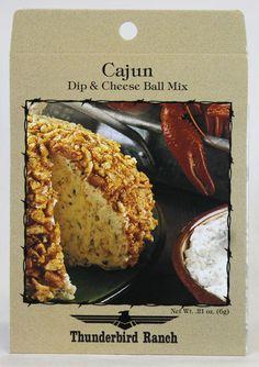 Cajun Cheese Ball & Dip Mix – Thunderbird Ranch Gourmet Foods