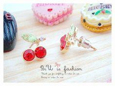 Cherry Earrings bridesmaid earrings  wedding by FashionCounter6