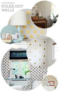 Polka Dot Walls | this is awesome! Megan I could so see you doing this for the girls :)