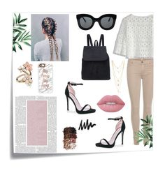 """""""▼△▼"""" by tuicat14 ❤ liked on Polyvore featuring Post-It, Chicwish, 7 For All Mankind, CÉLINE, Boohoo, Lime Crime, LORAC, Accessorize and Casetify"""