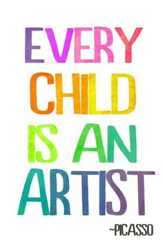 Every child is an artist free printable: