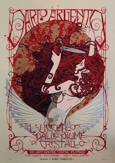 Dark City Gallery - The Dario Argento Poster Series, L'uccello Dalle Piume Di Cristallo, 8 colour silkscreen print with metallic inks.