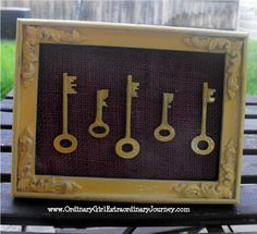 Framed Keys with Burlap