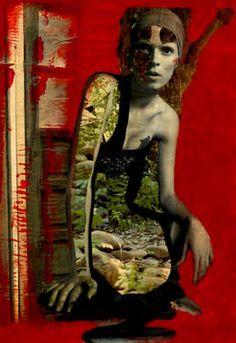 41-Collagemania Carmen Luna.  Bimba Bosé. http://www.saatchiart.com/art-collection/Assemblage-Collage/Collagemania-CARMEN-LUNA/71968/46137/view