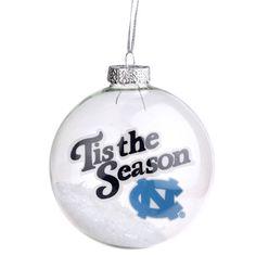 North Carolina Tar Heels 'Tis the Season Glass Ball Ornament - $9.99