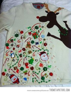 Ugly Christmas sweater epicness…