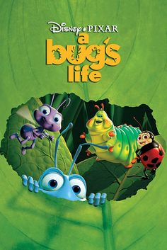 A Bug's Life is a 1998 American computer-animated comedy film produced by Pixar Animation Studios for Walt Disney Pictures (en. Disney Films, Disney Movie Club, Disney Movie Posters, Art Disney, Disney Xd, Film Pixar, Pixar Animated Movies, Animated Movie Posters, Cartoon Movies