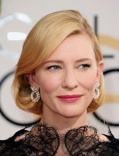 Cate Blanchett, musa magnânima que dispensa comentários…. E ainda ganhou! Mas comentando mesmo assim, amei o batom rosa chique, o leve brilho no olho chique, o penteado chique demais