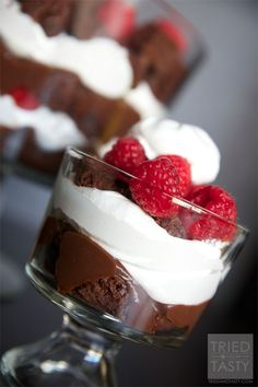 Raspberry Brownie Trifle Recipe