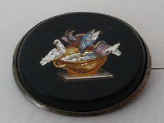 DOVES OF PLINY MICRO MOSAIC BROOCH. CIRCA 1860 | eBay