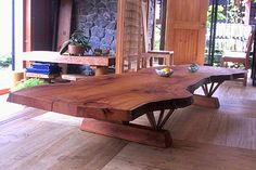 ケヤキ一枚板テーブル