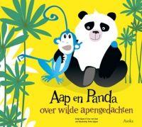 Over wilde apengedachten, doorPetra Gijzen (illustraties),Sonja Gijzen,Inez van Goor (redactie)Aap is niet blij, Panda, het vriendje van Aap, ziet er altijd blij en gelukkig uit. Ze doen dezelfde dingen, hoe kan dat? Op een speelse en leerzame wijze leren we dat Aaps grote gedachte
