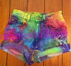 Rainbow Galaxy Shorts. (I wish that tag wasn't over top of it though)