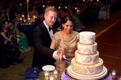 Wedding Planners - Eventrics | Wedding Event Design - Occasions by Shangri-La | Photographer - Jensen Larson Photography | Cake - Sprinkles Custom Cakes | Venue - Grand Hyatt Tampa | Indian Wedding Reception