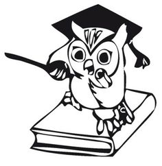 Owl In The Book Coloring Pages
