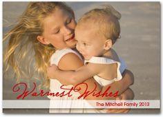 Christmas Photo Cards: Warmest WishesHoliday Photo Cards    Shop Announcingit.com