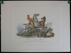 $19.99 Equestrian Animal Art Print, Jockai Emporte par ses Chevaux by Carle Vernet