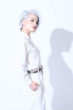 #ヘアカラー #派手髪 #ブリーチ1回 #ホワイトヘア #ホワイトブリーチ #ハイトーンカラー
