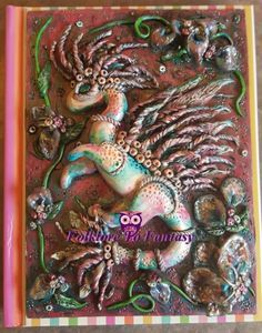 Polymer Clay  Watercolor Sea Dragon Journal  by FolkloretoFantasy
