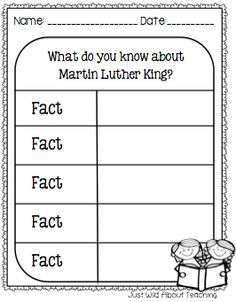 Just Wild About Teaching: Remembering Martin Luther King Jr With a Sweet Treat!