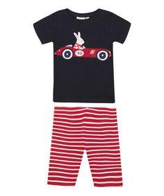 Black Racing Car Slim-Fit Pajama Set - Infant, Toddler & Boys #zulily #zulilyfinds