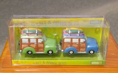 Surf & Sand Woodie Wagons Salt & Pepper Shaker Set 2004 by Bamboo Traders Boards  | eBay