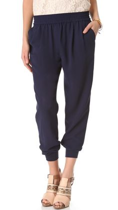 Joie Mariner Pants :: want....similar look with CAbi Textured Slouch Pant SP13