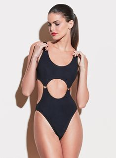 Fleur du Mal black Suspender One Piece Swimsuit. Features suspender style buckles with front, side, and back cutouts. Italian stretch fabric shapes and holds. Fully lined. Shop Fleur du Mal swim, ready to wear, and lingerie. Black Swimsuit, One Piece Swimsuit, Black Suspenders, Cut Out Swimsuits, Aesthetic Fashion, Fashion Branding, Boyfriend Jeans, Stretch Fabric, Fitness Models