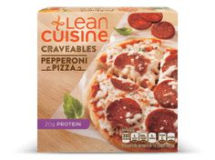 Pepperoni & basil with a four cheese blend. Frozen Pizza, Frozen Meals, High Protein Recipes, Protein Foods, Cheddar Mac And Cheese, French Bread Pizza, Lean Cuisine, Pizza Flavors, Cafe Food