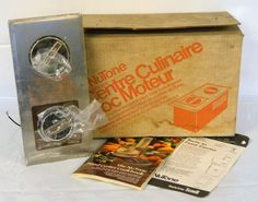 New Old Stock Nutone Built In Counter Top Food Center Power Control Unit Model 251 Original New In Box Retro Kitchen Vintage MCM Mid Century Modern With Recipes In Recipe Book #MCM #Nutone