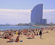 Beach of Barcelona, Spain