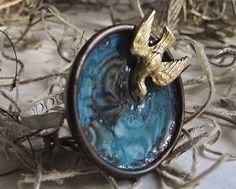 Make a Whimsical Birdbath Ring with Metal, Enamel, and Resin - Jewelry Making Daily - Blogs - Jewelry Making Daily