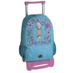 Mochila Escolar Carro Ruedas Petals by BUSQUETS: Amazon.es: Equipaje Busquets, Vera Bradley Backpack, Fashion Backpack, Backpacks, Bags, Baggage, Wheels, Handbags, Backpack