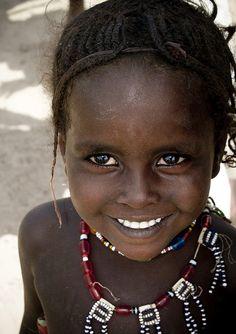 Africa | Young Afar girl smiling, Ethiopia | © Eric Lafforgue #erice #sicilia #sicily