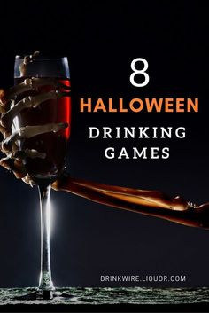 The 8 Halloween Drinking Games You Have to Try: Guaranteed to make sure you have a scary, boozy good time. Scary Halloween Games, Haloween Games, Halloween Drinking Games, Movie Drinking Games, Hallowen Party, Drinking Games For Parties, Halloween School Treats, Hallowen Costume, Adult Halloween Party