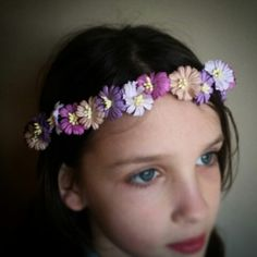 Purple and Taupe Daisy Chain