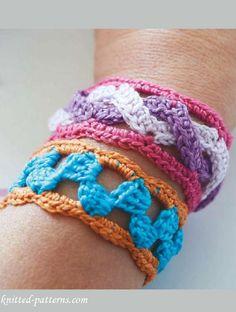 Crochet bracelets free patterns